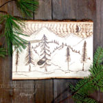 Wood burned wood slab workshop