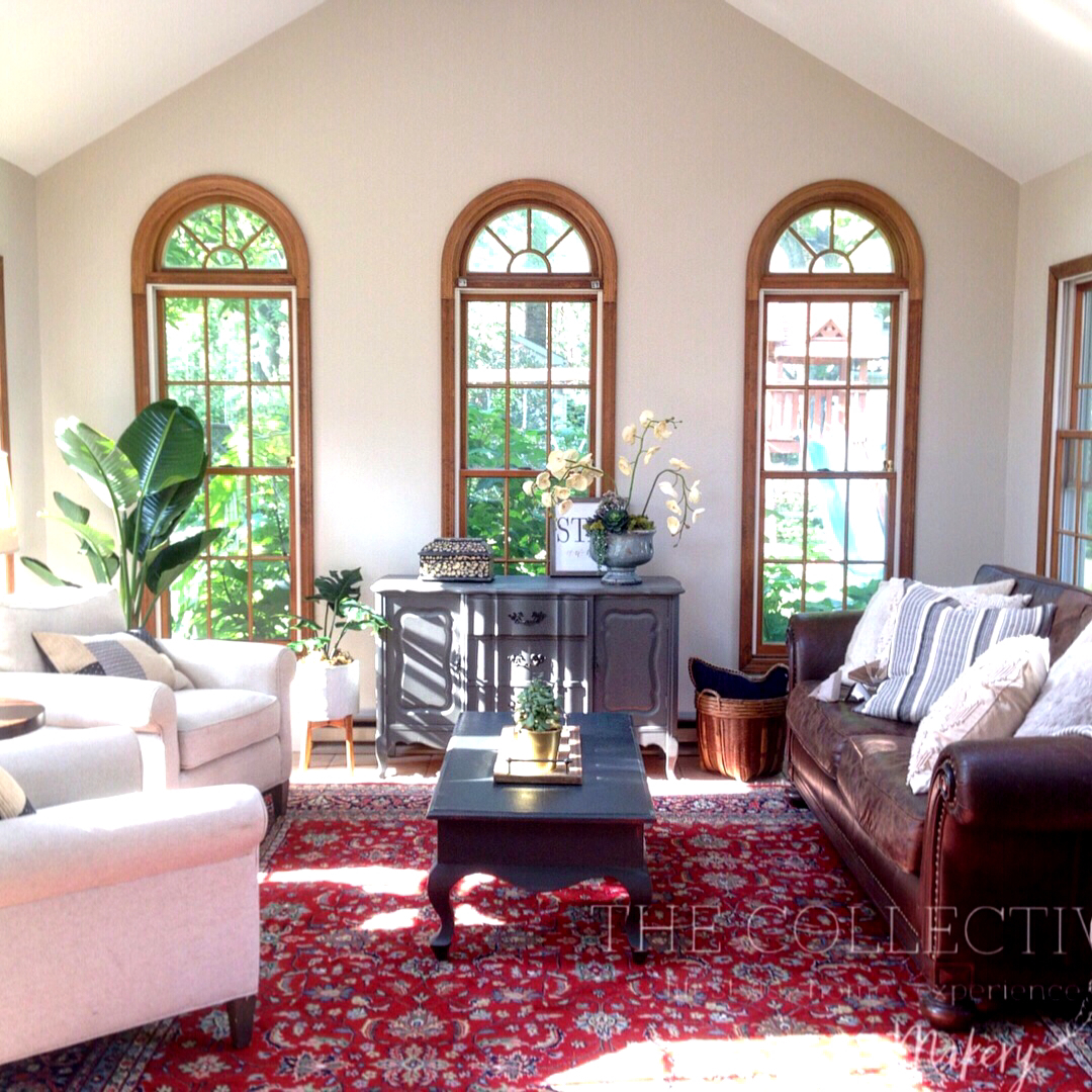 Redesigned Sunroom with The Collective lhe + Makery in Lisle, IL