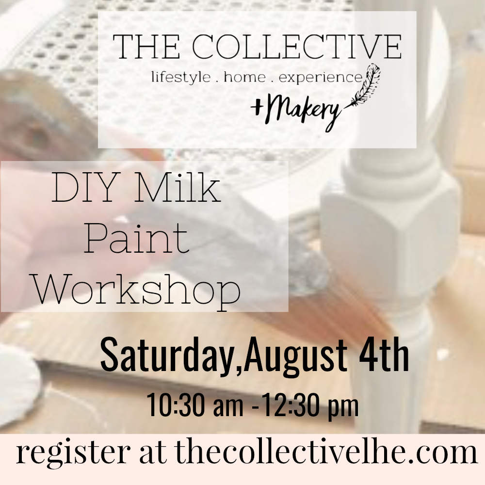 DIY Milk Paint Workshop at The Collective lhe + Makery in Lisle, IL