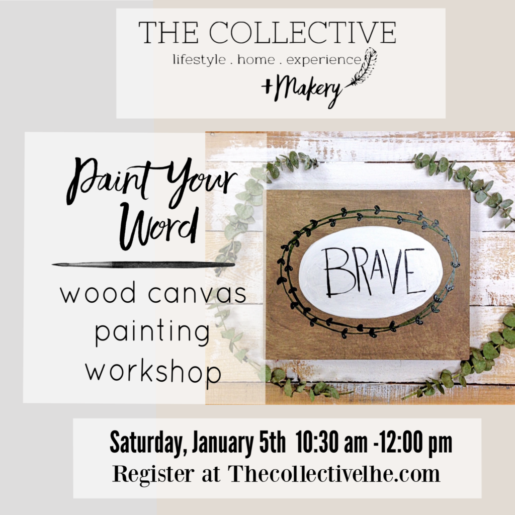 Paint your word workshop The Collective lhe + Makery