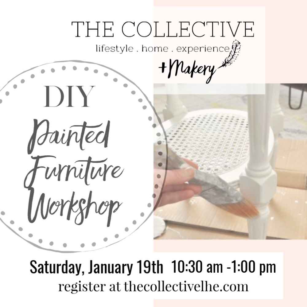 DIY paintede furniture workshop at The Collective lhe + Makery