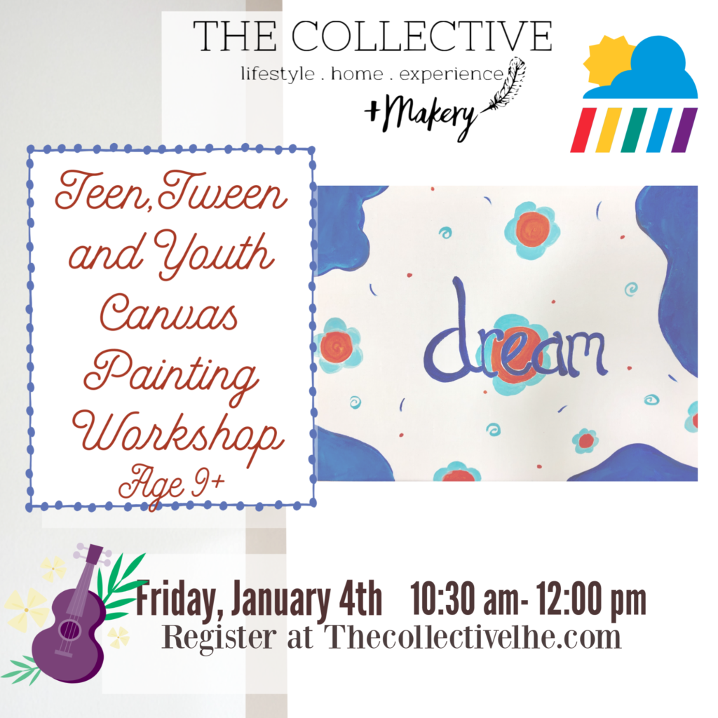 Teen, Tween and Youth Canvas painting workshop The Collecctive lhe + Makery