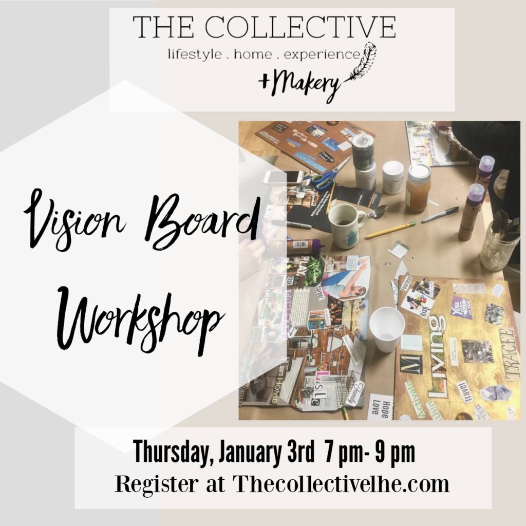 Vision Board Workshop at The Collective lhe +Makery in Lisle, IL
