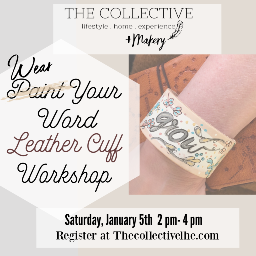 Wear your word leather cuff painting workshop
