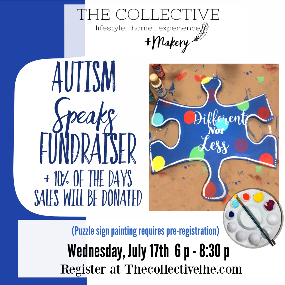Autism Speaks Fundraiser at The Collective lhe +Makery
