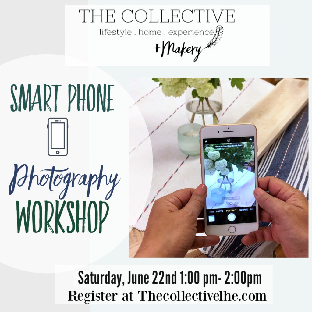 Smart phone digital photography workshop The Collective lhe + Makery in Lisle IL