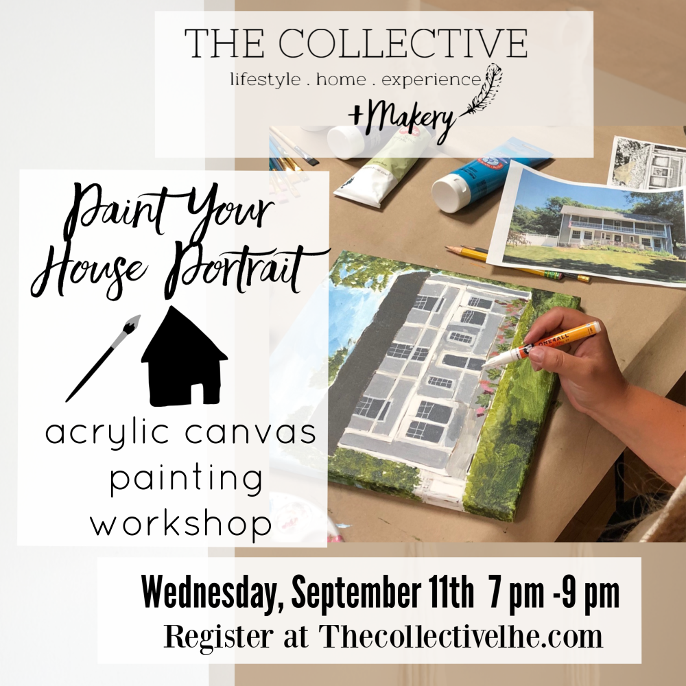 Paint your house portrait in acrylic paint at The Collective lhe Makery