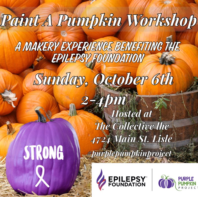Paint a Pumpkin Purple Workshop at The Collective lhe + Makery in Lisle,IL