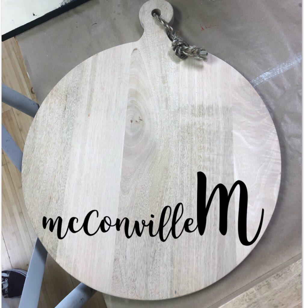 Wood burned appetizer board The Collective lhe Makery