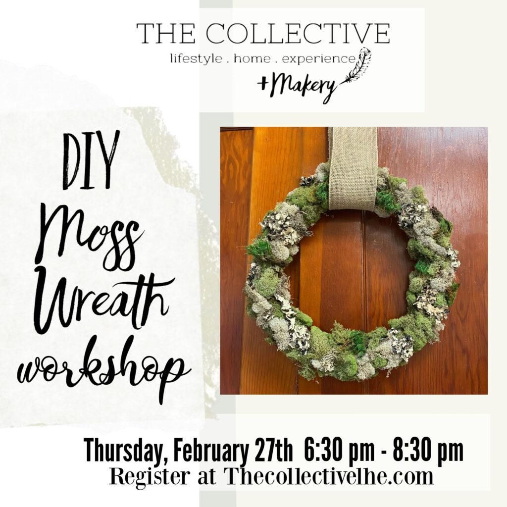 DIY Moss Wreath Workshop The Colletive lhe Makery