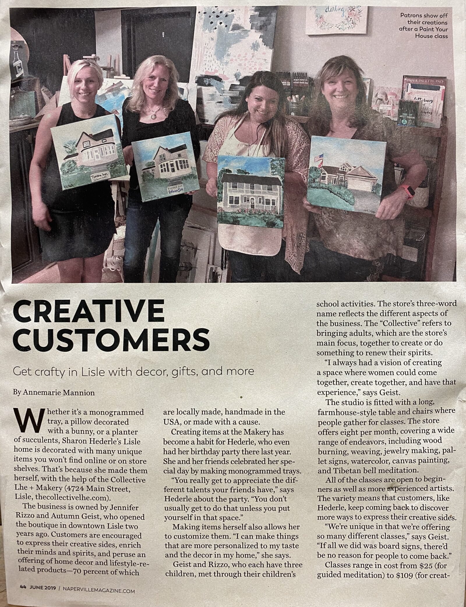 Creative customers in our Makery in Lisle, IL The Collective lhe