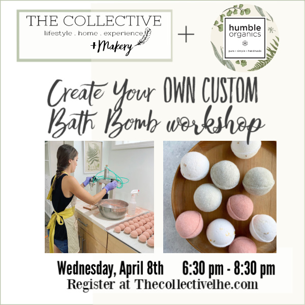 DIY Bath Bomb Workshop at The Collective lhe + Makery in Lisle, IL